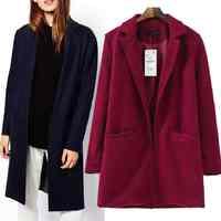Free Shipping new womens wool coat woolen cloth outerwear trench coats women 201512092323