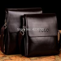 Promotion 2015 genuine leather bag men handbags messenger bag double pocket shoulder bags