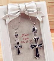 Promotion! Wholesale! Fashion lady women necklaces & pendants jewelry punk alloy cross necklaces SN595