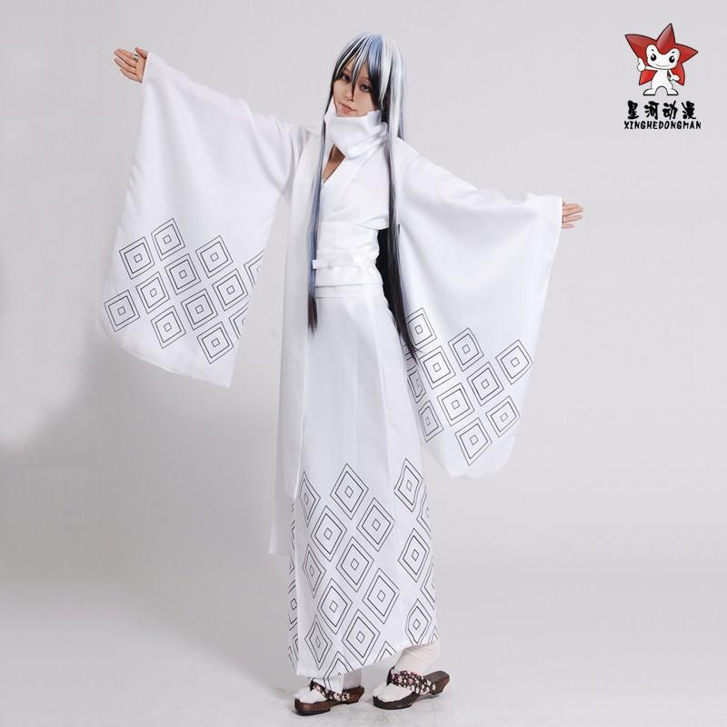 the grandson of the ghost Snow female Shirley Printed white kimono    White Kimono Ghost