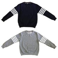 NEW men sweatshirts thick fleece men's Hoodies striped sport male clothes S/M/L/XL/XXL free shipping