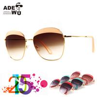 2015 NEW Fashion Streetchic Suqared Sunglasses Women Alloy Frame Vintage Sunglass lentes de sol gafas Eyewear SMU53Q