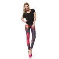 2015 New Legging Fitness Leggings Women Workout Pants  Pink   Milky Way pink    DK037 Print High Roupas Para Academia Mulheres