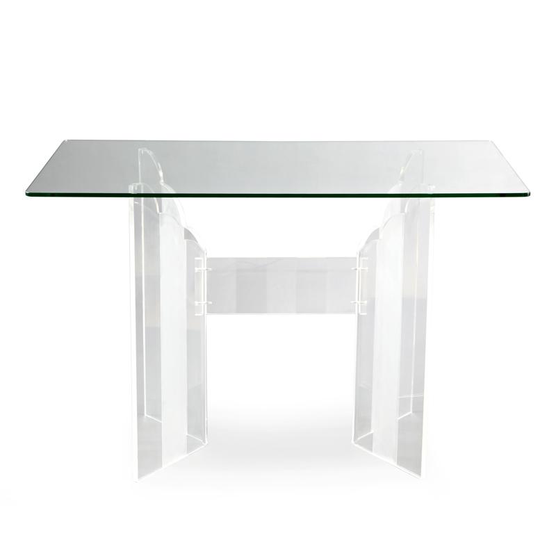 Di Road furniture modern minimalist fashion creative art acrylic rectangular upscale European restaurant table(China (Mainland))