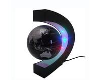 HIGH TASTE C shape Decoration Magnetic Levitation Floating World Map Globe LED Light WELL PACKED