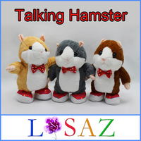 18CM Talking Hamster with Foot Educational Sounding Plush Toys The Russian Brinquedos Animal Speak Record Hamster Toy Juguetes