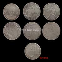 Set of MICHAEL JEFFERY JORDAN 6 coin different design 1 oz his airness AIR JORDAN 1984-1993 1995-1998 2001-2003 Challenge COINS