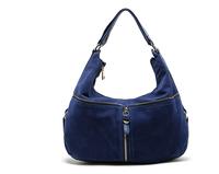 AC632 trendy fashion woman solid zipper Hobos shoulder bag handbag sapphire blue