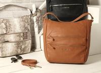 AC633 trendy fashion office lady woman solid serpentine handbag zipper hobo shoulder bag sling bag brown sepentine