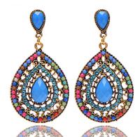 Female fashion Wedding party Charm jewelry Vintage Bohemian beads heart pendant drop earrings women