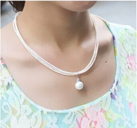 Wholesale 2015 New Fashion Multilayer Imitation Pearl Long Necklace Simple Atmosphere Short Clavicle Necklace For Women FN0401