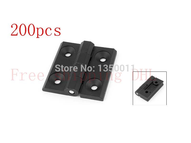 Free shipping DHL 60mm x 60mm Square Black Aluminum Window Cabinets Door Hinges 200PCS(China (Mainland))