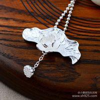 Black 925 sterling silver wholesale Su Yin lotus pendant female Pendant 047290w