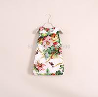 2015 Children Butterfly Floral Vest Dress, Girl Flower Garment, 5 pcs/lot,Wholesale