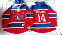 Old Time Hockey Hoodies Jersey Montreal Canadiens 14# Tomas Plekanec Red stitched Hoodies Jersey