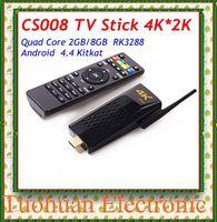 2015 newest CS008 Quad Core tv stick Android 4.4 TV Box RK3288 2GB/8GB Bluetooth 4.0 RJ45 Port Support 4K*2k Smart TV stick