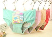4 pcs/lot 2015 new Bamboo Fiber women Menstruation underwear Panties Menstrual leak proof antibacterial physiological Briefs