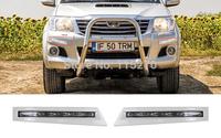 Car Daytime Running Lights LED DRL Daylight for Toyota Vigo 2012  (Pack of 2)