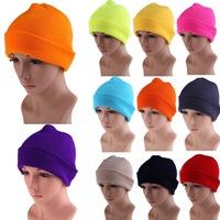 Free Shipping Men's Women Beanie Knit Ski Cap Hip-Hop Color Winter Warm Unisex Wool Hat  K5BO