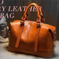 Hot Oil Wax Leather Women Handbag Fashion Shoulder Bags Bolsas Femininas Desigual Women Messenger Bags New PU Leather Tote B243