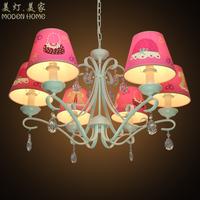 Free shipping5115 American fashion pastoral modern minimalist restaurant chandelier crystal lamp living room Princess Bedroom Li