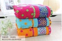 100% cotton bath towel 76x152cm 550g/pc bathroom products bathing gift DOTS three colors