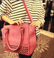 Vintage Rivet Dull polish dull polish Women Leather Handbag Messenger bags Bolsas femininas 2014 New Sweet one shoulder bag