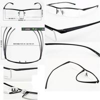 100% TITANIUM Halfrim antireflective coating lenses custom made prescription glasses -1 -1.5 -2 -2.5 -3 -3.5 -4 -4.5 -5 -5.5 -6