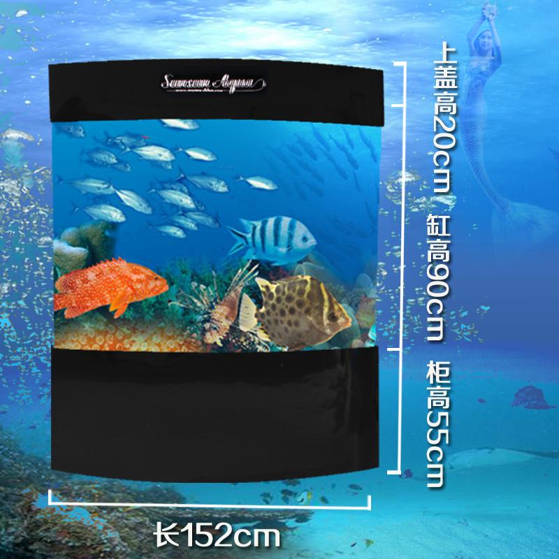 Muitas províncias marítimas densa acrílico duplo arco 1.5 m tanque de peixes de aquário ecológica painéis de parede JS1500 venda(China (Mainland))