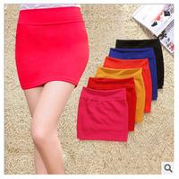 Korean Skirt Women Ladies Summer Spring Skirt High Waist Elastic Mini A-line Skirts Female Candy Colors Shorts Skirts For Women