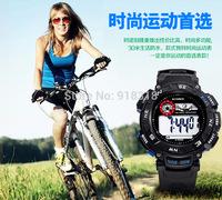 Free Shipping SYNOKE Large dial Men wristwatch Sports Watch Swimming Waterproof Digital watches LED Alarm Week Date Stopwatch