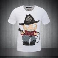 "2015 New Design Men T-shirt ""Cowboy"" PLAYFUL Summer Fashion Men's Clothing O-neck Short Sleeve T-Shirt Tops Tees For Man PP1504"
