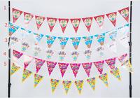 Various Design Birthday Party Plastic Flag Banner Buntting