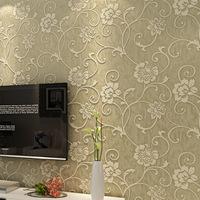 KOYLE - Non-woven sweet  Europe flowers papel de parede 3d living room glitter wallpaper wall paper tapete