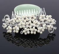 New Design Acrylic Stone Bridal Hair Comb Wedding Hair bands Handmade Free Shipping A grade quality