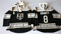 Old Time Hockey Hoodies Jersey Los Angeles Kings 8# Drew Doughty  Black stitched Hoodies Jersey