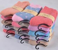 women socks female sock Winter wool socks 5pairs/1ot Casual Candy Color Cotton Solid Lady's Sock Winter Sock