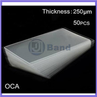50pcs/lot 250um OCA optical clear adhesive double side sticker For Samsung Galaxy Note3 N9000 for LCD/ Digitizer Glass Repair