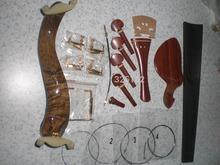 1 Set Best Rose Wood Violin fitting with Fingerboard Bridge string Fine tuner shoulder rest Chin