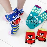 1set=6pairs=12pcs Funny big tongue mouth socks cotton socks for men and women socks lovers Cartoon socks free shipping