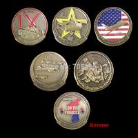 Set of 1950-1953 38TH PARALLEL THE FORGOTTEN WAR 5 coins IX Corps the korean war / U.S.ARMY /F-86 the korean war etc