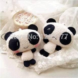 1PCS Super Kawaii Panda Stuffed TOY Mobile Phone Strap Pendant For Cell Charm Lanyard Chain,Key Chain BAG Charm TOY Doll(China (Mainland))