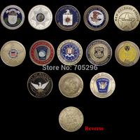 Set of Saint michael 13pcs/lot St Michael challenge coin  Zinc alloy plating bronze 40*3mm coin replica