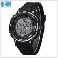 Free Shipping SYNOKE Fashion wristwatch Sports Watch Swimming 50m Waterproof Digital watches LED Alarm Week Date Stopwatch