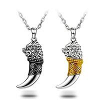 Free Shipping 925 Sterling Silver Necklace Fashion Wolf Chain Silver Jewelry Necklace Pendant Top Quality 2015 new Silver