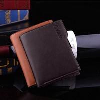 2015 new Male Leather Brief Fashion Short Design Men's Wallets Card Holder wallet men wallet Fashion Card Holder coin purse men