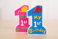 1st First Birthday (one) CANDLE, Birthday Cake Topper Blue Boy Pink Girl Baby Party Deocration FREE POSTAGE