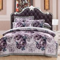 European luxury wedding 4Pcs bedding sets jacquard silk satin duvetcover bedsheet pillowcases cotton home textile Free Shipping