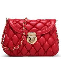 BRIGGS Brand Bag Plaid PU Leather Handbags Chains Shoulder Bag Women Messenger Bags Cross Body Bags For Women