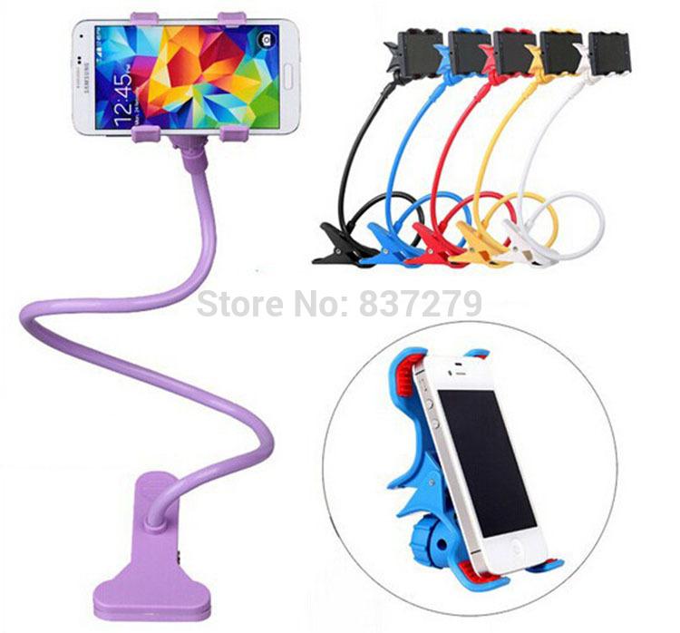 Multi-function Flexible Car Holder Mobile Phone Holder Lazy Bracket Bedside Desktop Bed Bracket For iphone 6 5 5S 4S Samsung(China (Mainland))